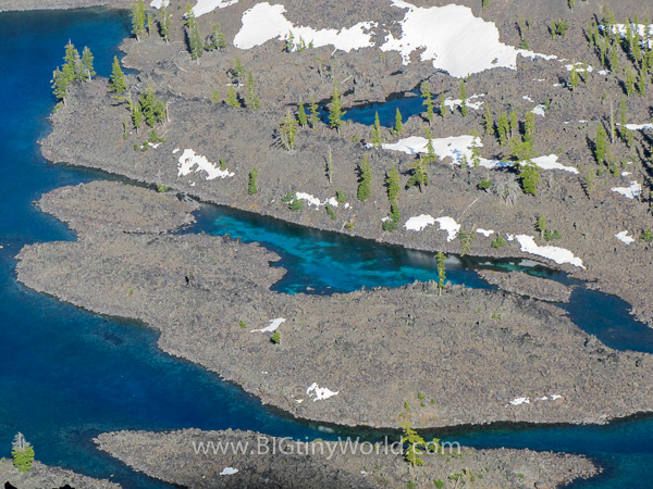 Close-up of Wizard Island from the rim of Crater Lake | BIGtinyWorld Travel