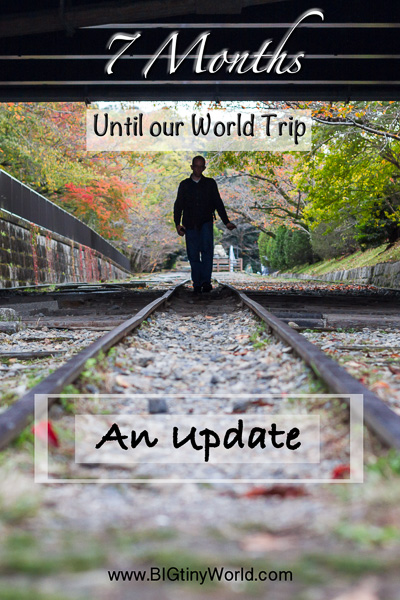 7 Months Until Our World Trip - An update | BIG tiny World Travel | We only have 7 months until we depart for our grand trip around the world. Here's what we've been working on thus far! | #travel #worldtravel #travelcouple #aroundtheworld #travelblog
