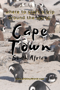 Where to start a trip around the world: Cape Town | BIG tiny World Travel | We are finally officially traveling! But where does one start? Click to read why we chose Cape Town! | #travelcouple #Africa #travel #aroundtheworld