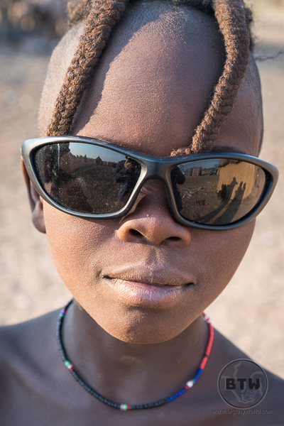 Himba boy with sunglasses