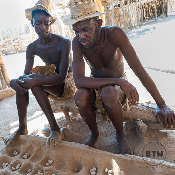 Damara men playing a traditional game