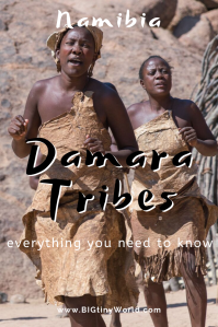 Visiting the Damara Tribes | BIG tiny World Travel | We visited the Damara tribe in Namibia at the Damara Living Museum. There we watched them make fire, medicine, and weapons. The program finished with a song and dance, as well as some good conversation. Click here to learn more about the Damara tribe. | #travel #africatravel #damara #tribes #native #shadeadventures