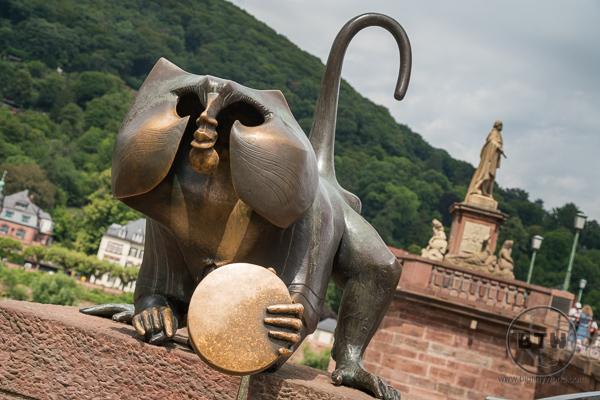 Monkey at Bridge in Heidelberg