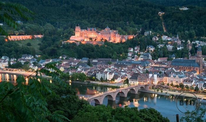 View of Heidelberg from Philosophers Walk