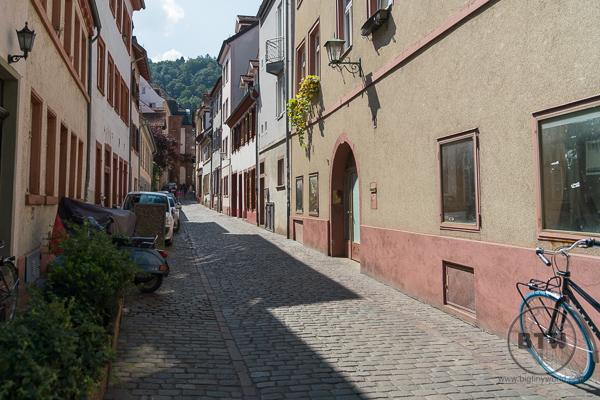 Cobblestone Streets in Heidelberg Germany