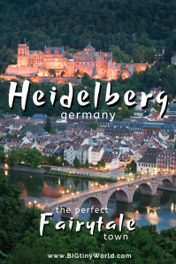 Heidelberg Germany The Fairytale Town | BIG tiny World Travel | Castle ruins, a palace, and cobblestone streets make Heidelberg Germany the perfect fairytale town. Have a beer and enjoy the views in this preserved medieval village. Click here to learn more! | #Germanytravel #Heidelberg #Castle #shadeadventures #fairytale