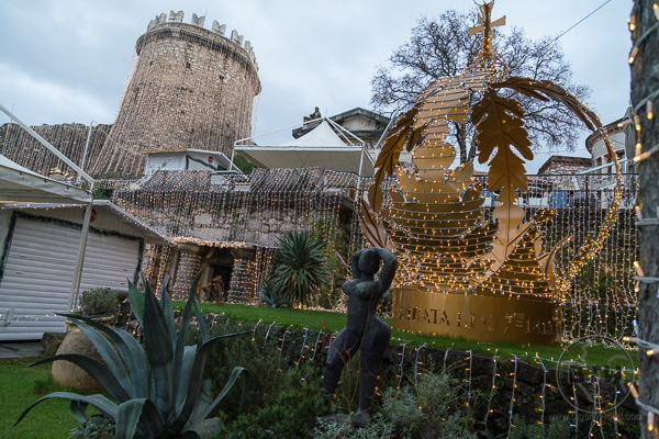 Christmas decorations at Trsat Castle in Rijeka | BIG tiny World Travel