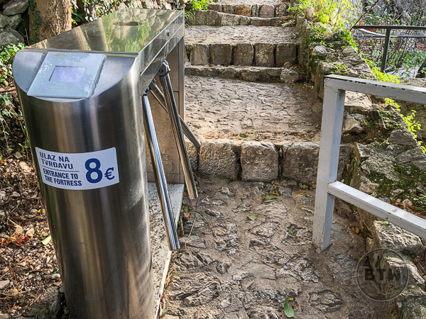 Kotor fortress turnstile closed for the season | BIG tiny World Travel