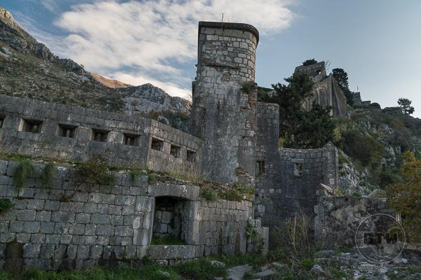 Kotor Fortress ruins   BIG tiny World Travel
