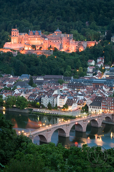 Heidelberg Castle View From Philospher's Path