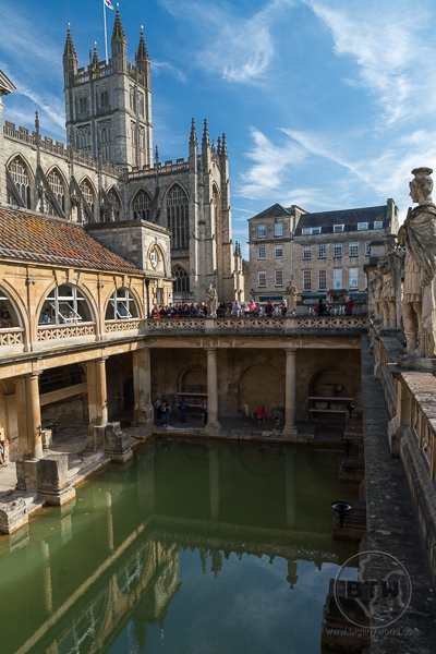 Roman Baths in Bath United Kingdom - England