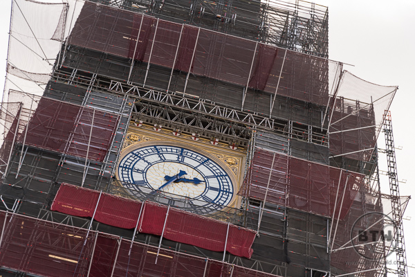 Big Ben London UK with Scaffolding