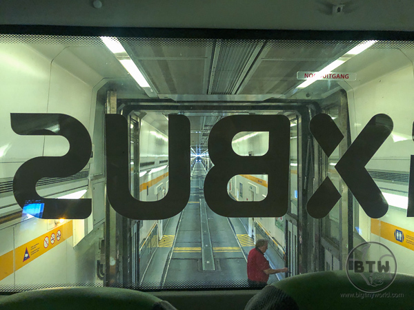 Inside Flixbus on Channel Tunnel Train