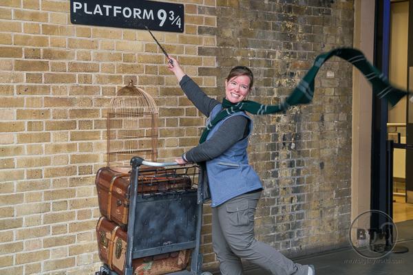 Platform 9 3/4 Harry Potter Kings Cross Station London UK